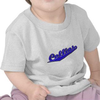 Collins script el logotipo en azul camisetas