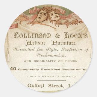 Collinson y cerradura pegatina redonda