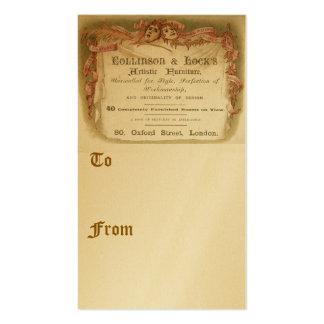 Collinson y cerradura tarjetas de visita