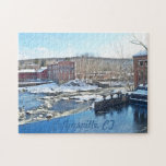 """Collinsville Puzzle<br><div class=""""desc"""">This puzzle shows a few of the old Collins Company buildings on the Farmington River in Collinsville,  CT. Great gift for anyone who lives or used to live in Collinsville or for collectors of Collins company memorabilia.</div>"""