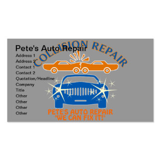 Collision Auto Repair Business Cards