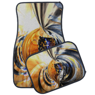 Collision Course Abstract Car Mat