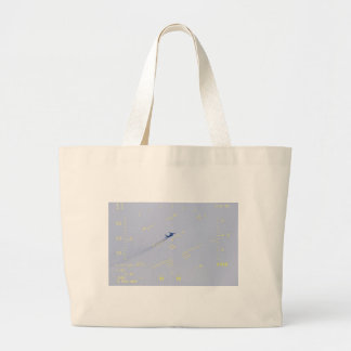 collision course, head up display (hud) view large tote bag