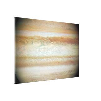 Collision Leaves Giant Jupiter Bruised Canvas Print