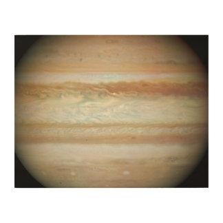 Collision Leaves Giant Jupiter Bruised Wood Print