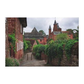 Collonges-la-Rouge, the red village canvas print