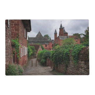 Collonges-la-Rouge, the red village in France Placemat
