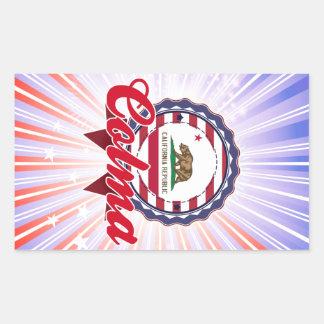 Colma CA Rectangle Stickers