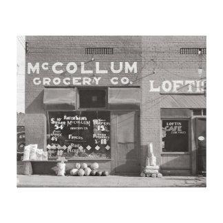 Colmado de la pequeña ciudad, 1935 impresiones en lona estiradas