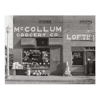 Colmado de la pequeña ciudad, 1935 tarjeta postal