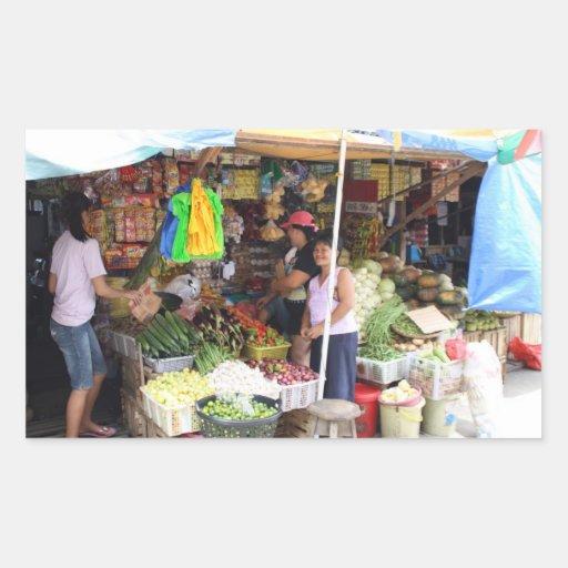 Colmado del Visayan Pegatina Rectangular