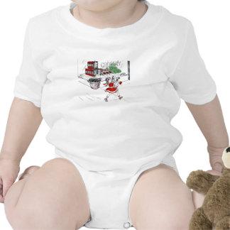 Colmado y niña pasados de moda trajes de bebé