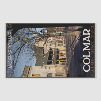 Colmar - aduanas viejo rectangular pegatinas