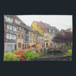 "COLMAR FRANCE KITCHEN TOWEL<br><div class=""desc"">Beautiful photograph of brightly colored homes in Colmar,  France along the Lauch River.</div>"