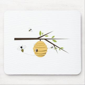 Colmena de la abeja alfombrilla de ratón