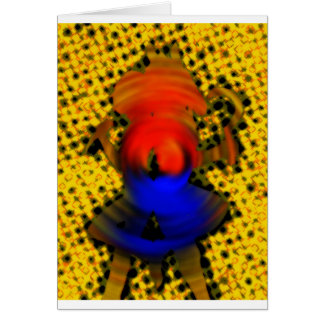 Colmena de la abeja tarjeta de felicitación