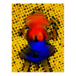 Colmena de la abeja tarjeta postal