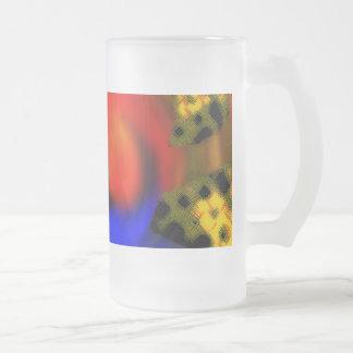 Colmena de la abeja taza de cristal