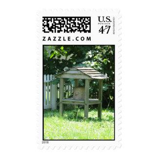 Colmena de la abeja timbre postal