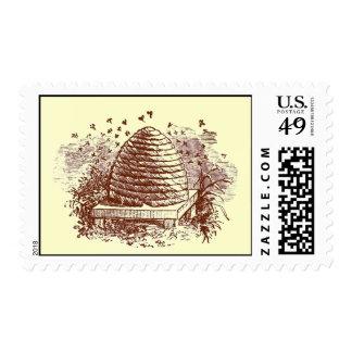 Colmena del vintage sello postal