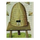 Colmena y abejas postales