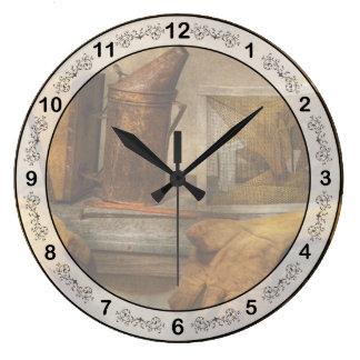 Colmenar - el apicultor reloj redondo grande