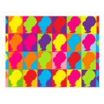 Colmenas multicoloras del estallido retro postales