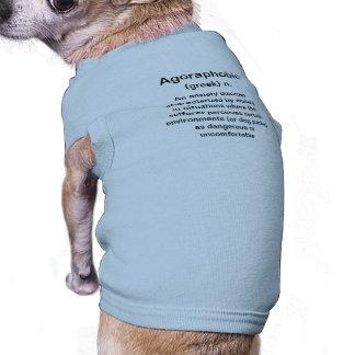 Colmillo agorafóbico camisa de perro