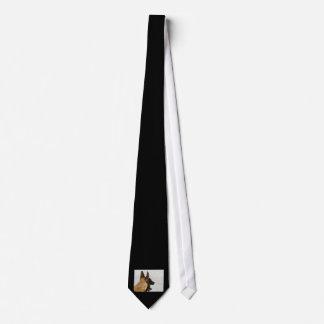 colmillo del perro de la imagen de la cabeza del corbata personalizada