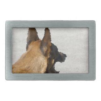 colmillo del perro de la imagen de la cabeza del hebillas de cinturon rectangulares