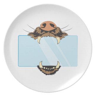 Colmillos animales platos