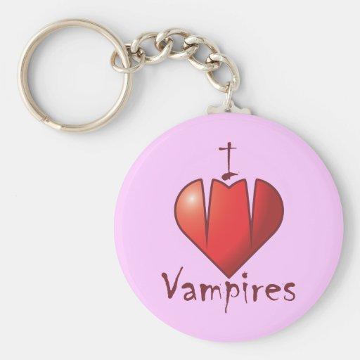 Colmillos del corazón: Amo a vampiros Llavero Personalizado