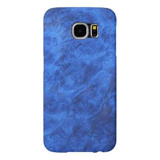 Colmillos ocultados en caja azul de la galaxia S6 Funda Samsung Galaxy S6