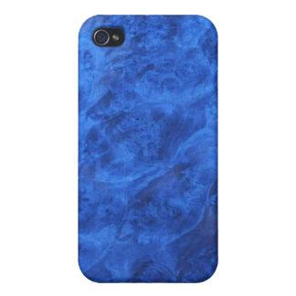 Colmillos ocultados en caja azul de la mota del iPhone 4/4S carcasas