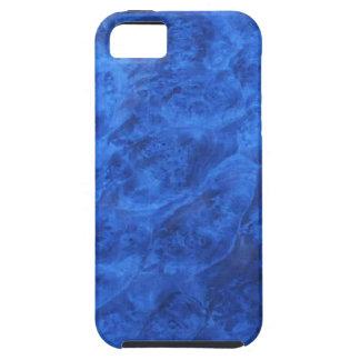 Colmillos ocultados en caja azul del iPhone 5 de l iPhone 5 Case-Mate Fundas