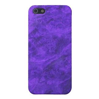 Colmillos ocultados en caja púrpura del iPhone de iPhone 5 Fundas