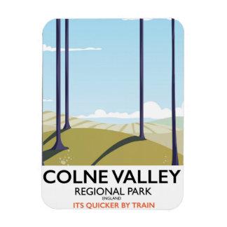 Colne Valley Regional Park England rail poster Magnet