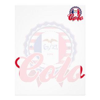 Colo, IA Personalized Letterhead