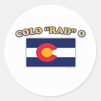Colo RAD O Classic Round Sticker