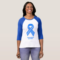 Colo-rectal Cancer Awareness support blue ribbon T-Shirt