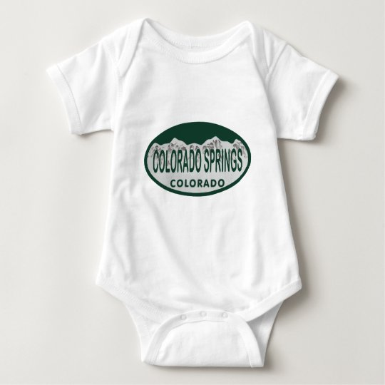 Colo Spgs license oval Baby Bodysuit