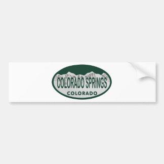 Colo Spgs license oval Car Bumper Sticker