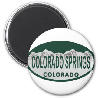 Colo Spgs license oval Magnet
