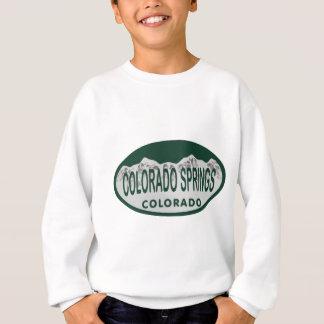 Colo Spgs license oval Sweatshirt