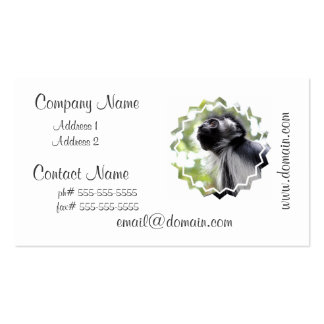 Colobus Monkey Profile Business Cards