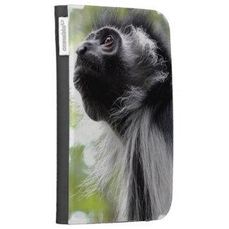 Colobus Monkey Profile Kindle Case