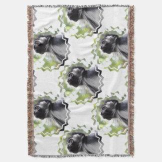 Colobus Monkey Throw Blanket