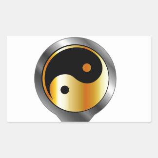 Colocación con ying y el símbolo de yang etiquetas