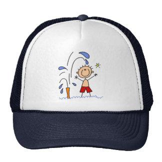 Colocación debajo del gorra de la regadera