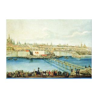 Colocación del puente de Moskvoretsky en Moscú Impresiones De Lienzo